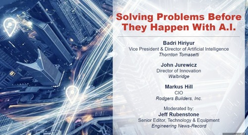 ENR Sponsored Webinar: Solving Problems Before They Happen With A.I.