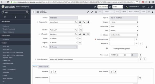 Incident Management Quickfuze Application Demo