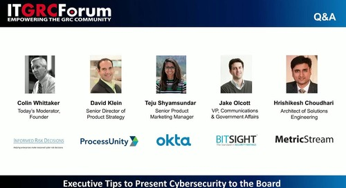 Webinar: Executive Tips to Present Cybersecurity to the Board