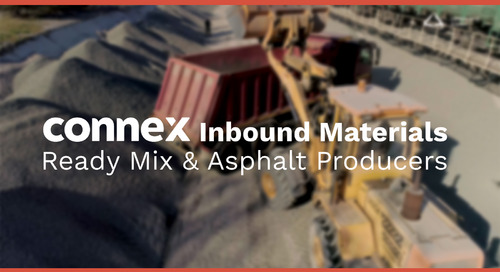 CONNEX Inbound Materials | Ready Mix & Asphalt Producers