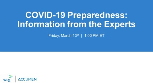 COVID-19 Preparedness: Information from the Experts