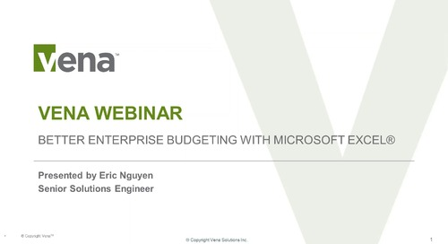Better Enterprise Budgeting with Microsoft Excel®