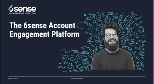 The 6sense Account Engagement Platform Demo for Sales