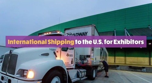International Shipping to the U.S. for Exhibitors
