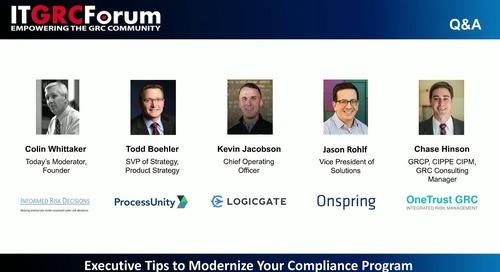Webinar: Executive Tips to Modernize Your Compliance Program