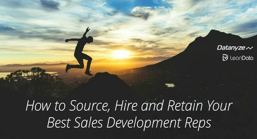 [Webinar] How to Source, Hire and Retain Your Best SDRs