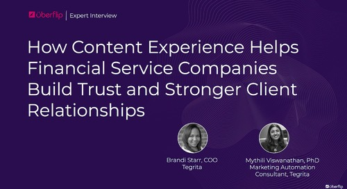 How Content Experience Helps Financial Services