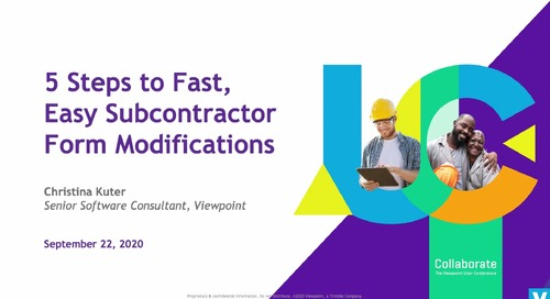 5 Steps to Fast, Easy Subcontractor Form Modifications with ProContractor