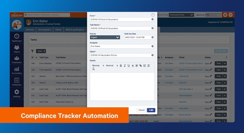 Compliance Tracker Automation - Track and manage your employees' vaccination statuses in AlayaCare