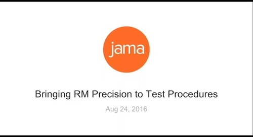Bringing RM Precision to Test Procedures
