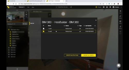 Holobuilder + BIM 360 Integration Webinar