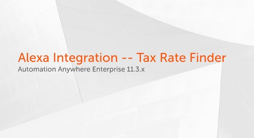 Enterprise 11.x Use Cases - Alexa Integration -- Tax Rate Finder