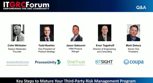 Webinar Replay: Key Steps to Mature Your Third-Party Risk Management Program