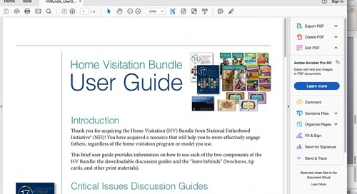 [Webinar On Demand] Engage Dads in Home Visits with NFI's Home Visitation Resource Bundle