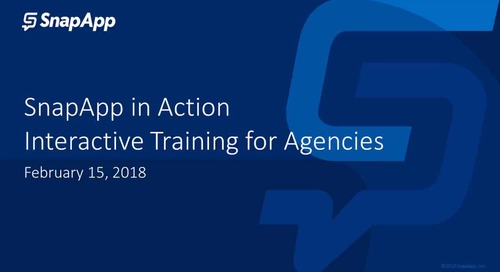 SnapApp in Action - Interactive Agency Training