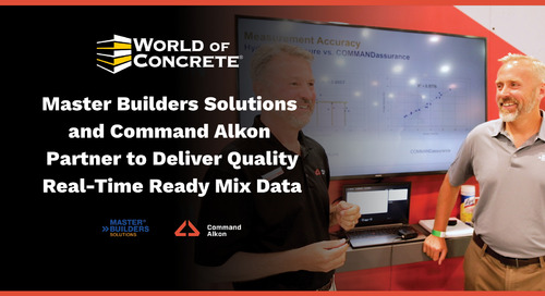 Master Builders Solutions and Command Alkon Partner to Deliver Quality Real-time Ready Mix Data