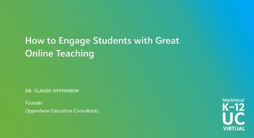 How to Engage Students with Great Online Teaching