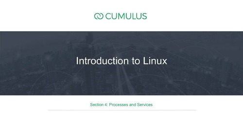 Intro to Linux – Section 4:  Processes and services