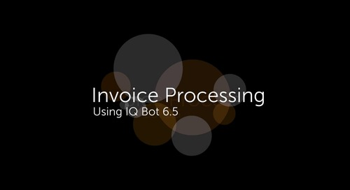 IQ Bot Use case - Invoice processing