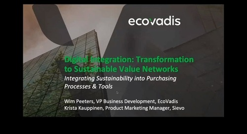 [SievoFriends Webinar] Integrating Sustainability Into Procurement Systems and Processes