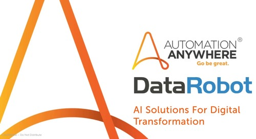 Automation Anywhere and DataRobot Partner on AI Solutions for Digital Transformation