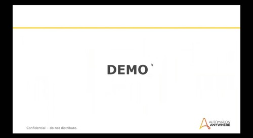 Automation Anywhere IQ Bot and Bot Insight Demo Presentation