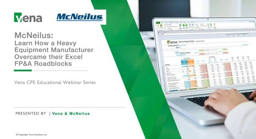 McNeilus: Learn How a Heavy Equipment Manufacturer Overcame their Excel FP&A Roadblocks