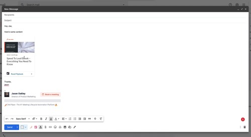 Using the Uberflip Extension in Gmail