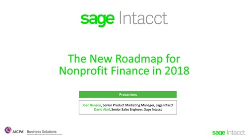 The New Roadmap for Nonprofit Finance