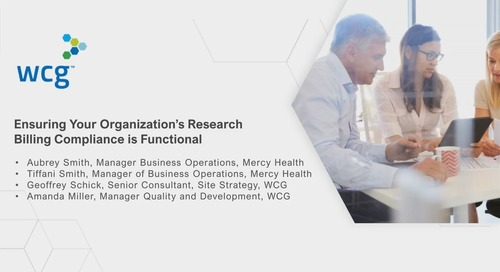 Ensuring Your Organization's Research Billing Compliance is Functional