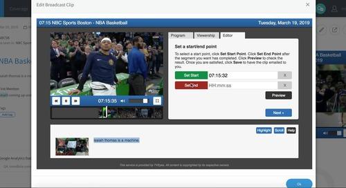 TVEyes Broadcast Clip Editing