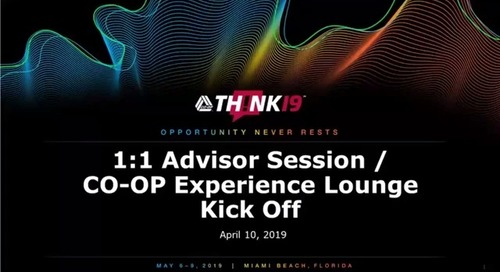 THINK 19 - 1:1 Advisor Sessions / Experience Lounge Kick Off