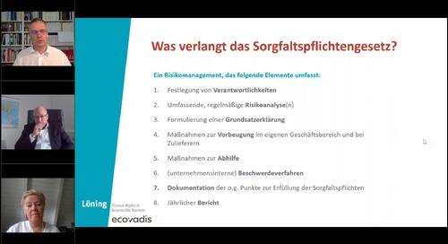 Webinar mit KiK und Löning: Lieferkettengesetz - Menschenrechtliche Sorgfaltspflicht umsetzen
