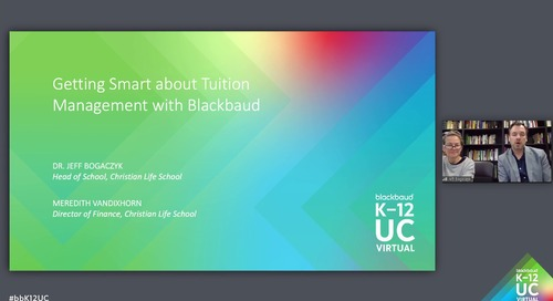Getting Smart about Tuition Management with Blackbaud