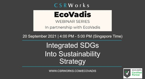 [CSRWorks] Integrating SDGs into Sustainability Strategy