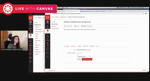 Bringing Canvas Collaboration and Assignments Together