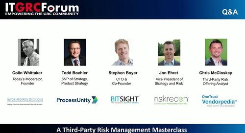 Webinar: A Third-Party Risk Management Masterclass