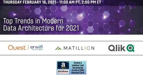 DBTA RoundTable - Top Trends in Modern Data Architecture in 2021