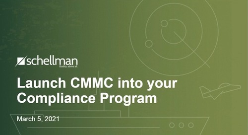 Launch CMMC into your Compliance Program