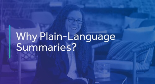 Why Invest in Plain-Language Summaries?