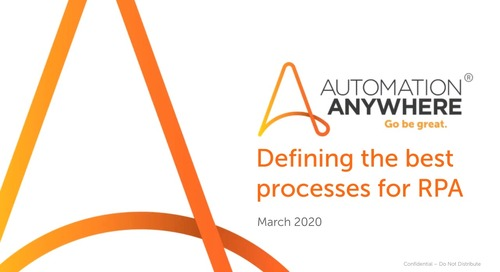 Winning strategies for automation - Defining the best processes for RPA