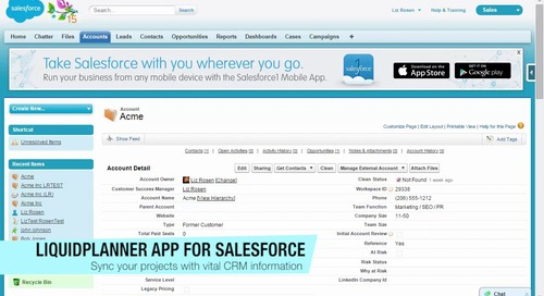 SalesForce App Corp Site