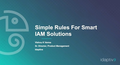 Simple Rules for Smart IAM Solutions