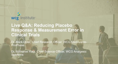 Live Q&A on Reducing Placebo Response & Measurement Error