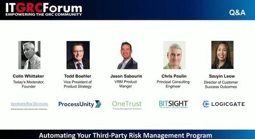 Webinar Replay: Automating Your Third-Party Risk Management Program