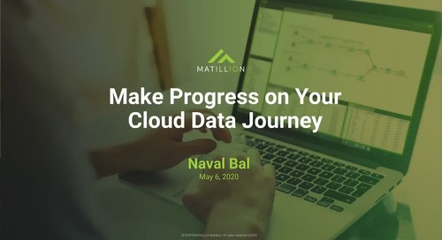 How to Progress on Your Cloud Data Journey