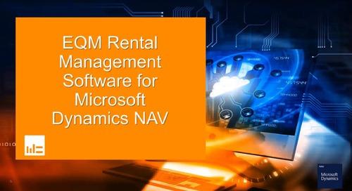EQM Rental Management Software for Microsoft Dynamics NAV
