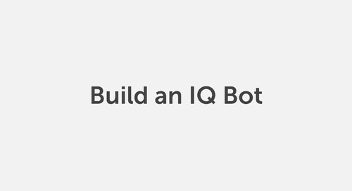How to Create an IQ Bot Learning Instance in Automation Anywhere Enterprise A2019