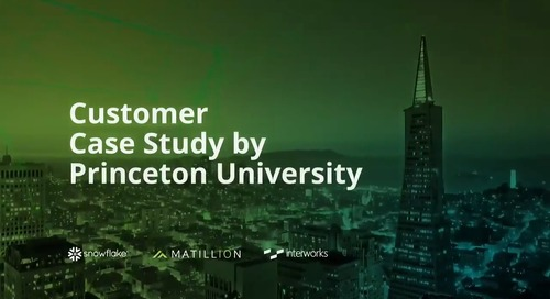 Princeton University Reimagines Data Architecture with Matillion ETL for Snowflake and Tableau