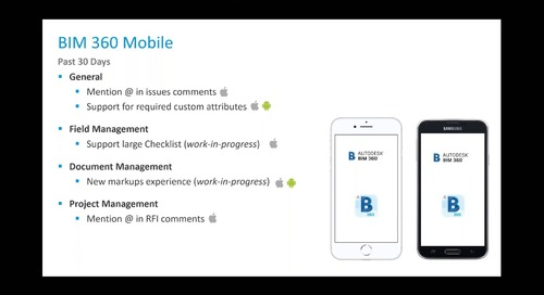 BIM 360: What's New & What's Next with the Product Team - March 2019